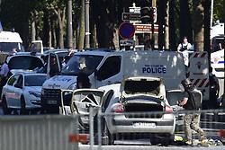 June 19, 2017 - Paris, France, France - attaque terroriste d un fourgon de police sur les champs Elysees (Credit Image: © Panoramic via ZUMA Press)