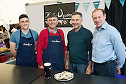 BIM's Taste the Atlantic seafood trail producers the Kelly's Mike, Micheal and Diarmuid with BIM's experts Richard Donnelly at the GAlway international Oyster Festival <br /> Photo:Andrew Downes, XPOSURE.