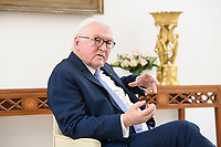 02 FEB 2021, BERLIN/GERMANY:<br /> Frank-Walter Steinmeier, Bundespraesident, waehrend einem Interview, Robert-Blum-Saal, Schloss Bellevue<br /> IMAGE: 20210202-01-014<br /> KEYWORDS: BUndespräsident