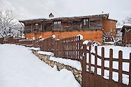 Village of Brashlyan in Strandzha mountain at winter