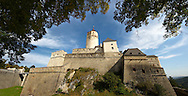 The medieval Forchtenstein Castle,  Forchtenstein, Burgenland, Austria .<br /> <br /> Visit our MEDIEVAL PHOTO COLLECTIONS for more   photos  to download or buy as prints https://funkystock.photoshelter.com/gallery-collection/Medieval-Middle-Ages-Historic-Places-Arcaeological-Sites-Pictures-Images-of/C0000B5ZA54_WD0s