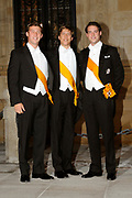Gala dinner on the occasion of the civil wedding of Grand Duke Guillaume and Princess Stephanie at the Grand-Ducal palace in Luxembourg <br /> <br /> On the photo: Felix, Sebastien and Louis