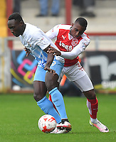 Fleetwood Town's Amari'i Bell battles with Coventry City's Daniel Agyei<br /> <br /> Photographer Dave Howarth/CameraSport<br /> <br /> The EFL Sky Bet League One - Fleetwood Town v Coventry Town - Saturday 3 September 2016 - Highbury Stadium - Fleetwood<br /> <br /> World Copyright © 2016 CameraSport. All rights reserved. 43 Linden Ave. Countesthorpe. Leicester. England. LE8 5PG - Tel: +44 (0) 116 277 4147 - admin@camerasport.com - www.camerasport.com
