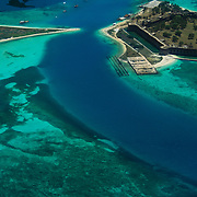 Ft. Jefferson form the air, Dry Tortugas National Park, FL.