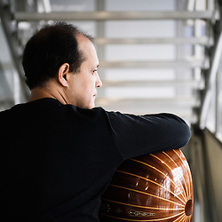Oud player Anouar Brahem, at the Institut du Monde Arabe, Paris, France. 29 September 2009. Photo: Antoine Doyen