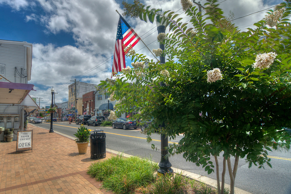 One of the many boutique shops on Main Street in Chincoteague Island, VA on Friday, July 29, 2016. Copyright 2016 Jason Barnette