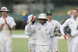 July 19, 2018 - Colombo, Sri Lanka - South African cricketer Keshav Maharaj acknowledges the crowd after the 1st Day's play as he took 8 wickets against Sri Lanka during the first day of their 2nd test cricket match between Sri Lanka and South Africa at SSC International Cricket ground, Colombo, Sri Lanka on Friday 20 July 2018. (Credit Image: © Tharaka Basnayaka/NurPhoto via ZUMA Press)
