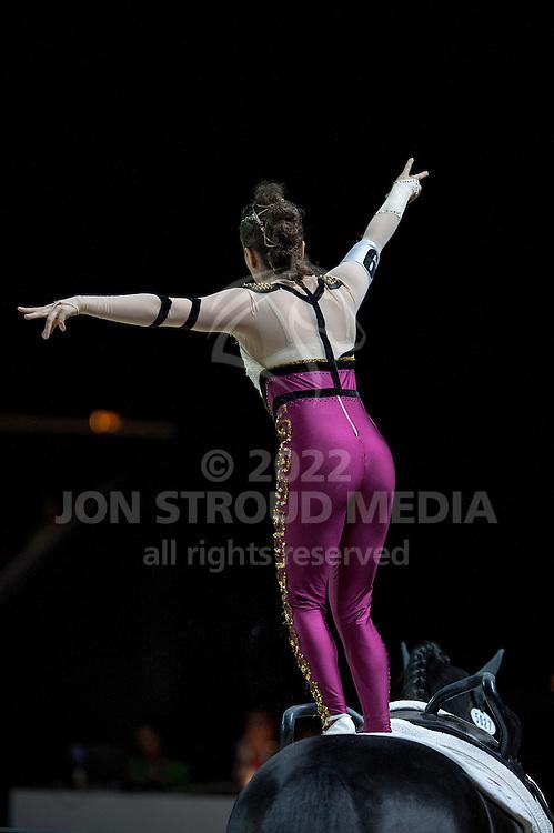 Hannah Eccles (GBR), WH Bentley, John Eccles - Individuals Women Freestyle Vaulting - Alltech FEI World Equestrian Games™ 2014 - Normandy, France.<br /> © Hippo Foto Team - Jon Stroud<br /> 03/09/2014