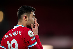 LIVERPOOL, ENGLAND - Thursday, March 4, 2021: Liverpool's Ozan Kabak during the FA Premier League match between Liverpool FC and Chelsea FC at Anfield. Chelsea won 1-0 condemning Liverpool to their fifth consecutive home defeat for the first time in the club's history. (Pic by David Rawcliffe/Propaganda)