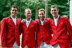 Team BEL, Philippaerts Nicola, Bruynseels Niels, Devos Pieter, Verlooy Jos<br /> CHIO Rotterdam 2018<br /> © Dirk Caremans<br /> 24/06/2018