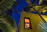 """Artist Lisa Remeny works into the twilight hours as she practices social distancing while painting """"Moonlight on the coast"""" at her Coconut Grove home during the COVID19 pandemic on Wednesday, April 1, 2020."""