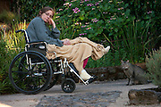 Faith D'Aluisio with broken leg, Napa Valley, CA