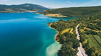 Aerial view of Peruca lake near the city of Knin in Dalmatian hinterland, Croatia.