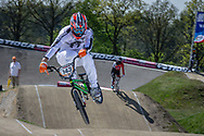 #143 (TORRES Exequiel) ARG at the 2016 UCI BMX Supercross World Cup in Papendal, The Netherlands.