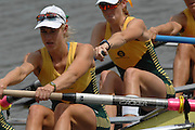 Amsterdam, HOLLAND, AUS W8+, Bow, Sarah OUTHWAITE, Natalie BALE, Robyn SELBY SMITH, Sarah COOK, Kim CROW, Sarah HEARD, Sally KEHOE, Kate HORNSEY and cox Elizabeth PATRICK at  the start,  at the 2007 FISA World Cup Rd 2 at the Bosbaan Regatta Rowing Course. [Date] [Mandatory Credit: Peter Spurrier/Intersport-images]..... , Rowing Course: Bosbaan Rowing Course, Amsterdam, NETHERLANDS