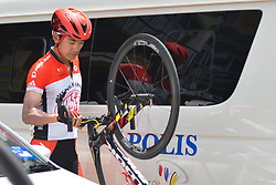 March 23, 2018 - Tanjung Malim, Malaysia - Zheng Zhang from Hengxiang Team seen before the start to the sixth stage, the 108.5km from Tapah to Tanjung Malim, of the 2018 Le Tour de Langkawi. .On Friday, March 23, 2018, in Tanjung Malim, Malaysia. (Credit Image: © Artur Widak/NurPhoto via ZUMA Press)