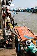 Ice Factory, Chhnok Tru, floating village, Tonle Sap Lake, Cambodia