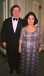 CROWN PRINCE ALEXANDER and CROWN PRINCESS KATHERINE OF YUGOSLAVIA, at a ball in London on 8th November 1998.MLP 102