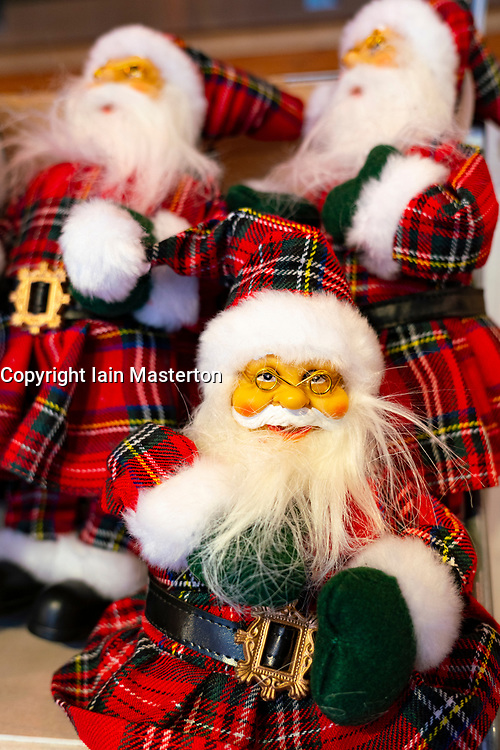 Edinburgh, Scotland, UK. 24 October 2020. Detail of Scottish themed Christmas novelties in Christmas shop on Royal Mile in Edinburgh. Scottish Government warns that Christmas celebrations and family gatherings might be severely curtailed  due to Covid-19 lockdowns. Iain Masterton/Alamy Live News
