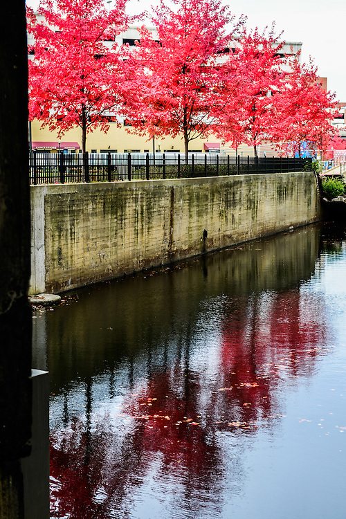 Waters from the Ohio-Erie Canal at Lock 4 park.