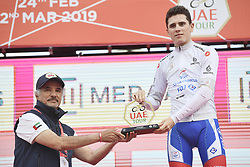 March 2, 2019 - Dubai, Emirati Arabi Uniti, Emirati Arabi Uniti - Foto LaPresse - Fabio Ferrari.02 Marzo 2019 Dubai (Emirati Arabi Uniti).Sport Ciclismo.UAE Tour 2019 - Tappa 7 - da Dubai Safari Park a City Walk - 145 km.Nella foto: David Gaudu (Groupama - FDJ)..Photo LaPresse - Fabio Ferrari.March 02, 2019 Dubai (United Arab Emirates) .Sport Cycling.UAE Tour 2019 - Stage 7 - From Dubai Safari Park to City Walk  - 90 miles..In the pic: .White Jersey, sponsored by Nakheel (Best Young Rider born after 1 January 1994) - David Gaudu  (Credit Image: © Fabio Ferrari/Lapresse via ZUMA Press)