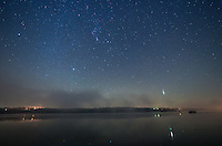 In My 2 hour time lapse I captured 1 bright Taurid meteor. There was another similar one right after this. But it somehow occurred in the 2 second gap in between pictures.