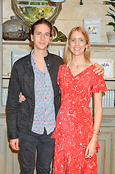 BEN SHEINWALD and XOCHI BALFOUR at a party to celebrate the publication of The Naturalista by Xochi Balfour held at Anthropologie, 158 Regent Street, London on 19th April 2016.