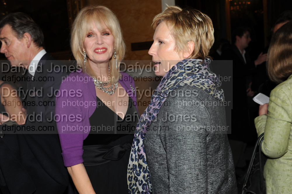 JOANNA LUMLEY; JENNIFER SAUNDERS;, Party following the Theatre Royal press night performance of The Lion in Winter , The Institute of Directors. London. 15 November 2011. <br /> <br />  , -DO NOT ARCHIVE-© Copyright Photograph by Dafydd Jones. 248 Clapham Rd. London SW9 0PZ. Tel 0207 820 0771. www.dafjones.com.