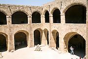 Courtyard, Archaeological museum, Rhodes, Greece