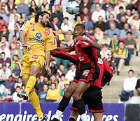 Fotball<br /> Nantes v Rennes<br /> 17. mars 2004<br /> Foto: Digitalsport<br /> Norway Only<br /> <br />  MARIO YEPES (NAN) / ABDELSALEM OUADDOU (REN)