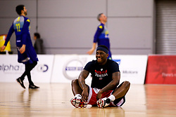 Jalan McCloud of Bristol Flyers warms up - Photo mandatory by-line: Robbie Stephenson/JMP - 29/03/2019 - BASKETBALL - English Institute of Sport - Sheffield, England - Sheffield Sharks v Bristol Flyers - British Basketball League Championship