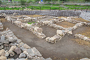 Ruins of the ancient fishing village of Magdala (Mejdel) current day Migdal. On the Sea of Galilee, Israel  It is believed to be the birthplace of Mary Magdalene.