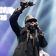 NLD/Amsterdam/20190212- Uitreiking Edison Pop 2019, Rapper Frenna ontvangt een award