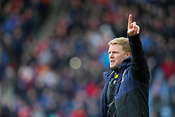 Bournemouth manager Eddie Howe gestures on the touchline during the Premier League match at the John Smith's Stadium, Huddersfield.