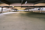 31 AUGUST 2020 - DES MOINES, IOWA: An empty parking ramp in downtown Des Moines. Des Moines, like many US cities, is suffering through an extended business slump. Des Moines is home to many insurance and financial services, and those businesses have moved to a work from home model. Downtown businesses, like cafes and convenience stores and dealing with an unprecedented loss of business.      PHOTO BY JACK KURTZ