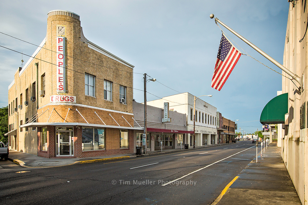 West Main Street or LA Hwy 24 near Courthouse Square in Houma, La.