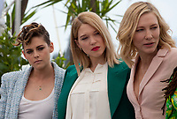 Jury members Kristen Stewart, Léa Seydoux, Jury President Cate Blanchett, at the Jury photo call at the 71st Cannes Film Festival Tuesday 8th May 2018, Cannes, France. Photo credit: Doreen Kennedy