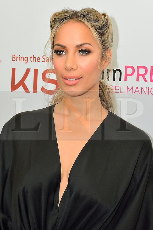 © Licensed to London News Pictures. 10/02/2016. British multi-million album selling music artist LEONA LEWIS is announced as the new brand ambassador for Kiss Nails, Kiss Lashes and imPRESS NAILS.  London, UK. Photo credit: Ray Tang/LNP
