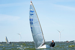 Bas de Waal in action by the Open Dutch Sailing Championships on September 18, 2020 in Medemblik, Netherlands