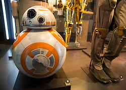EDITORIAL USE ONLY<br /> BB-8 goes on display at The STAR WARS Identities: The Exhibition at The O2 in London, which features over 200 props, models, costumes and artwork from the original films.
