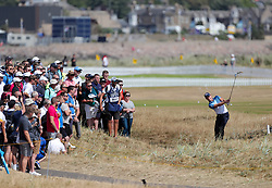 England's Danny Willett takes his second shot, from the rough, on the 2nd during day four of The Open Championship 2018 at Carnoustie Golf Links, Angus.