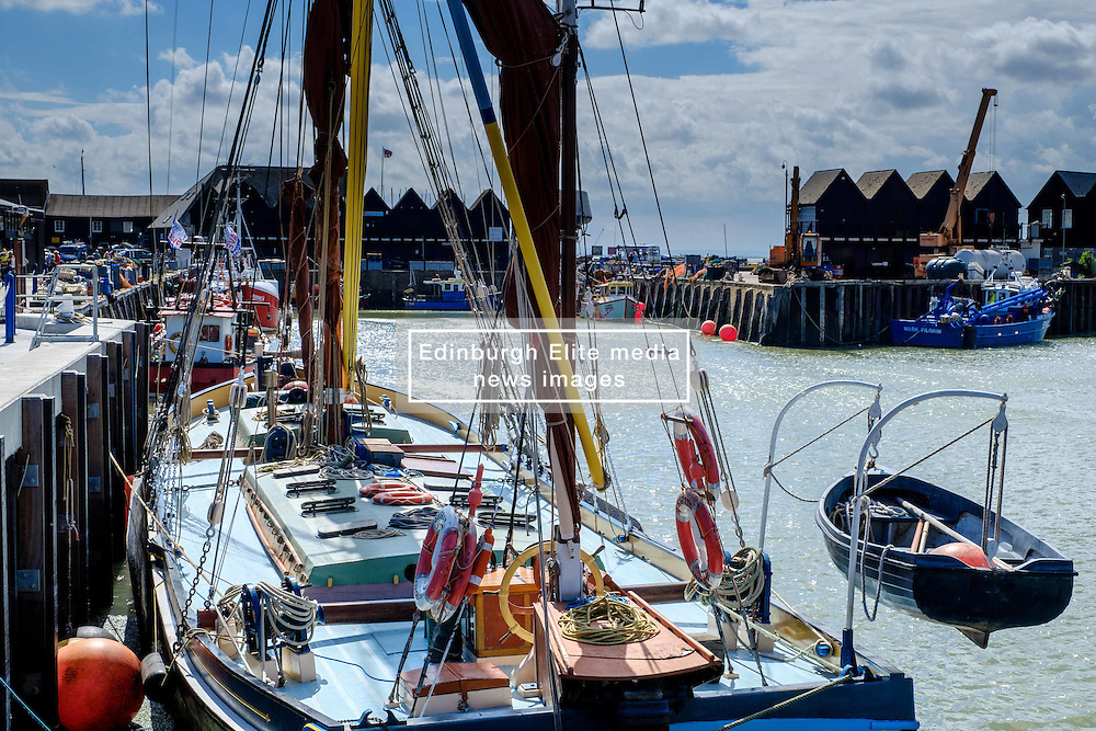 Fishing boats tied up in the harbour at Whitstable, Kent, England<br /> <br /> (c) Andrew Wilson   Edinburgh Elite media