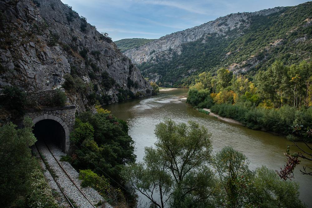 Nestos river, Greece.