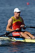 20040814 Olympic Games Athens Greece [Rowing]<br /> Photo  Peter Spurrier <br /> BEL M1X Tim Maeyens<br /> email;  images@intersport-images.com<br /> Tel +44 7973 819 551<br /> T<br /> <br /> <br /> [Mandatory Credit Peter Spurrier/ Intersport Images]