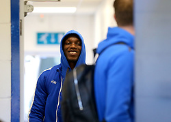 Bernard Mensah of Bristol Rovers arrives at The Cherry Red Records Stadium, for the game against AFC Wimbledon - Mandatory by-line: Robbie Stephenson/JMP - 17/02/2018 - FOOTBALL - Cherry Red Records Stadium - Kingston upon Thames, England - AFC Wimbledon v Bristol Rovers - Sky Bet League One