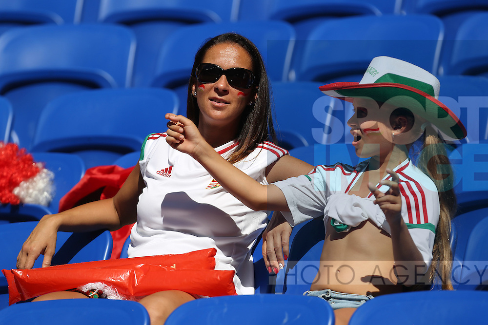 Hungary fans enjoy the sunshine during the UEFA European Championship 2016 match at the Stade de Lyon, Lyon. Picture date June 22nd, 2016 Pic Phil Oldham/Sportimage