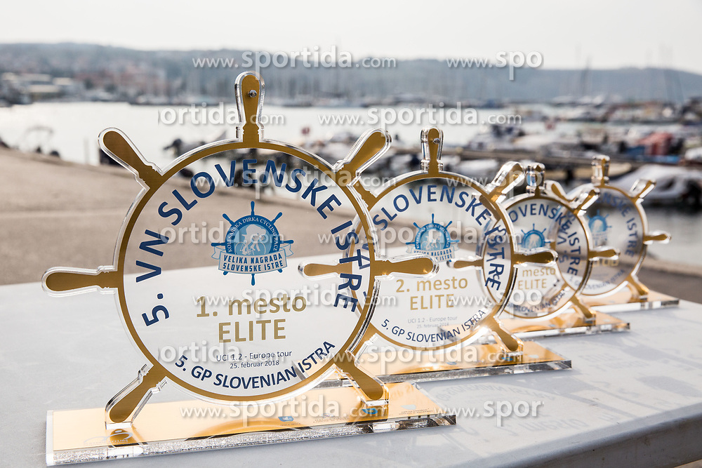 Trophy ceremony after the cycling race 5. VN Slovenske Istre / 5th Slovenian Istra Grand Prix, on February 25, 2018 in Izola/ Isola, Slovenia. Photo by Vid Ponikvar / Sportida