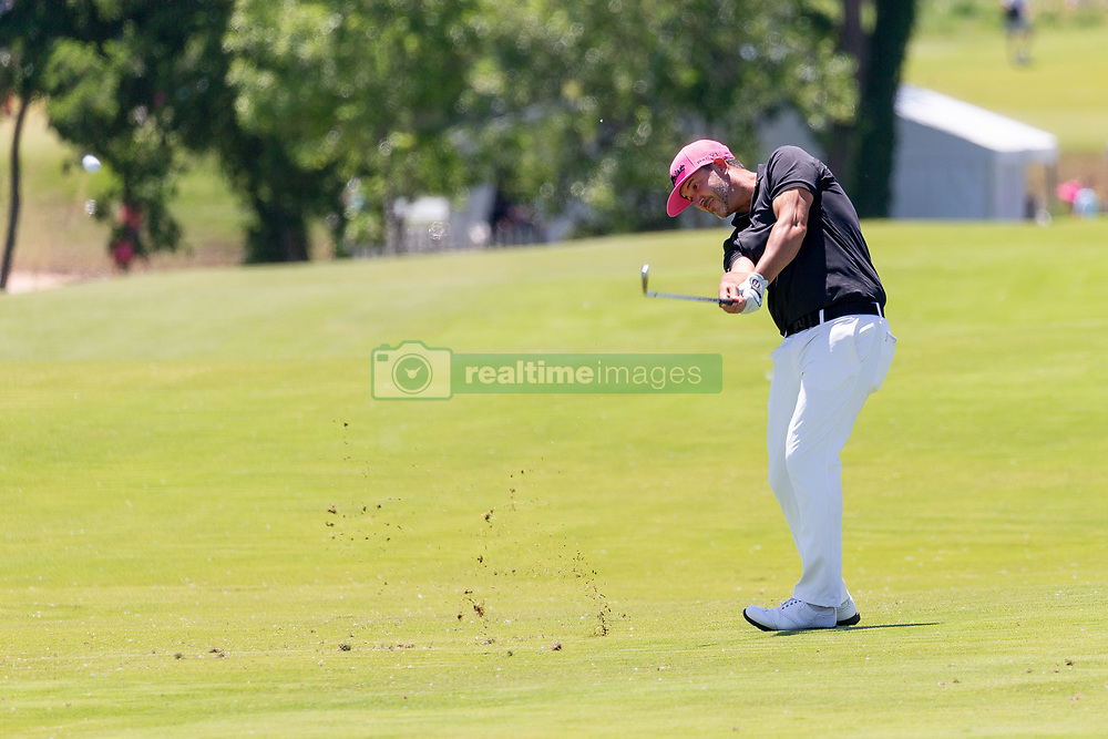 May 12, 2019 - Dallas, TX, U.S. - DALLAS, TX - MAY 12: Scott Piercy hits from the #4 fairway during the final round of the AT&T Byron Nelson on May 12, 2019 at Trinity Forest Golf Club in Dallas, TX. (Photo by Andrew Dieb/Icon Sportswire) (Credit Image: © Andrew Dieb/Icon SMI via ZUMA Press)