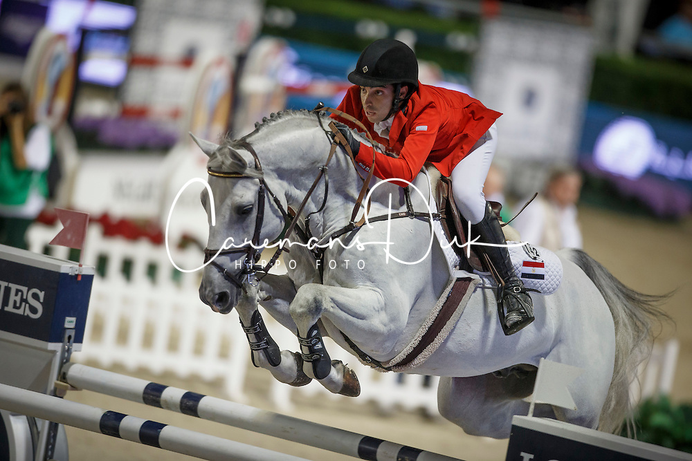 Said Abdel, (EGY), Vigino, FEI President<br /> Logines Challenge Cup<br /> Furusiyya FEI Nations Cup Jumping Final - Barcelona 2015<br /> © Dirk Caremans<br /> 25/09/15