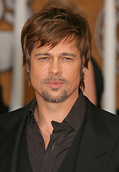 Brad Pitt attends the 14th Annual Screen Actors Guild Awards held at the Shrine Auditorium in Los Angeles, CA, USA on January 27, 2008. Photo by Baxter/ABACAPRESS.COM  Award Pitt Brad SAG Awards Screen Actors Guild Awards Barbe Bouc Barbiche Beard Seule Seul Seuls Seules Alone Soiree Party Los Angeles USA United States of America Vereinigte Staaten von Amerika Etats-Unis Etats Unis Headshot Portraits Portrait Headshots Head Shot Head Shots  | 143332_06 Los Angeles n